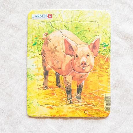 LARSENパズル ミニ4枚セット 家畜(5P)