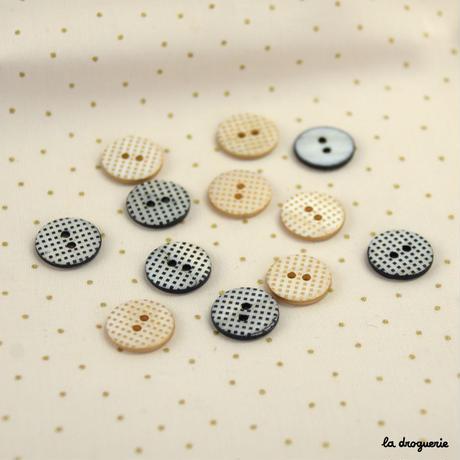 Bouton « Mini damiers pion » 15 mm