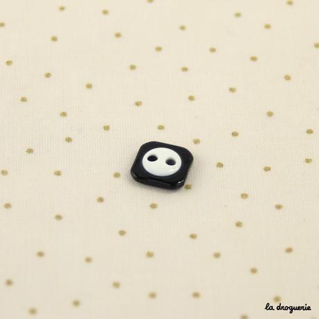 Bouton « Réglisse petit dôme » 13 mm