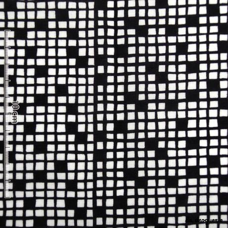 Tissu « Mots croisés » Noir et blanc
