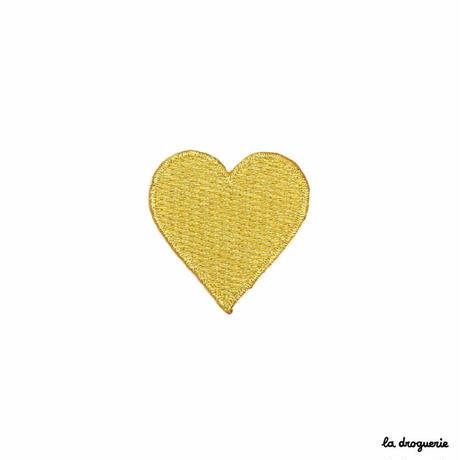 Ecusson « Dame de coeur »Doré | Ecusson à thermocoller 35 mm