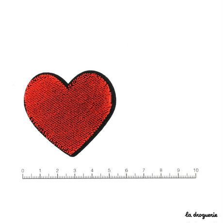 Ecusson coeur petite taille | Ecusson à thermocoller 53×49 mm