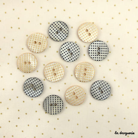 Bouton « Mini damiers pion » 18 mm