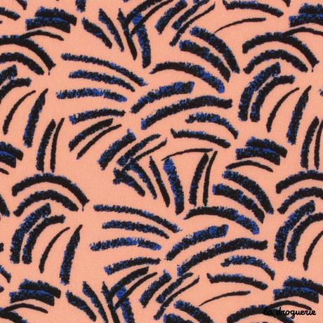 Tissu « Panthère rose » Corail