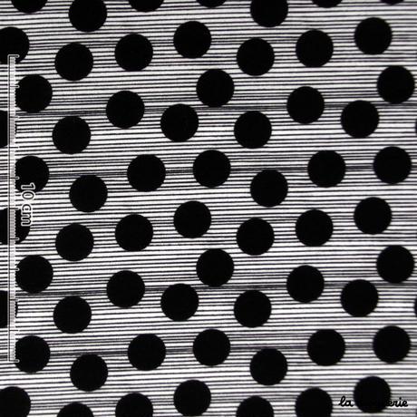 Tissu « Histoire de pois » Pois noir