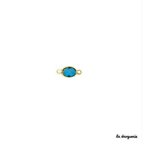 Perle transparente ovale « Coup de théâtre »14×7mm