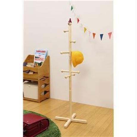 コートハンガー/ポールハンガー 【ブラウン】 幅440mm 木製 『ジュニアハンガー』 〔リビング ベッドルーム〕 組立品【代引不可】