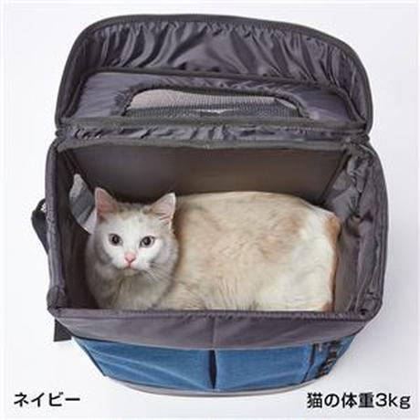 アドメイト Liscio CAT リュックキャリー ネイビー(ペット用品)
