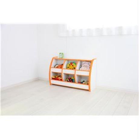 子供用 おもちゃ箱/玩具収納 【幅95.5cm グリーン】 日本製 高耐久性 知育家具 EVAキッズシリーズ おもちゃばこ 【完成品】【代引不可】