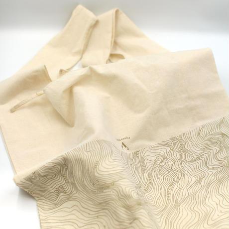 ヤマサンカ 山好きのための布バッグ(等高線)-MOA