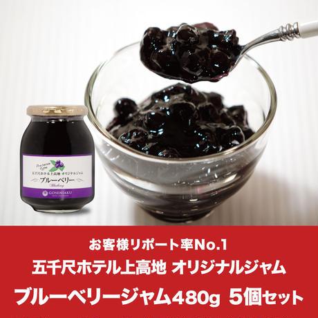 【定期便】ブルーベリージャム 480g 5個セット-KAM