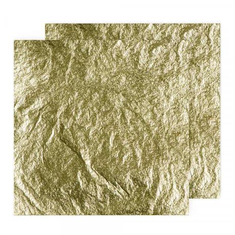 金箔25枚 [Handover] 20g Superior 23ct Gold Leaf (Loose)  80 x 80 mm