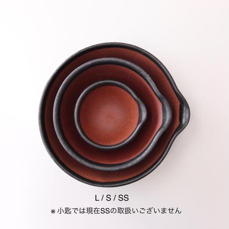 日常茶飯器 黒  櫛目のないすり鉢 L