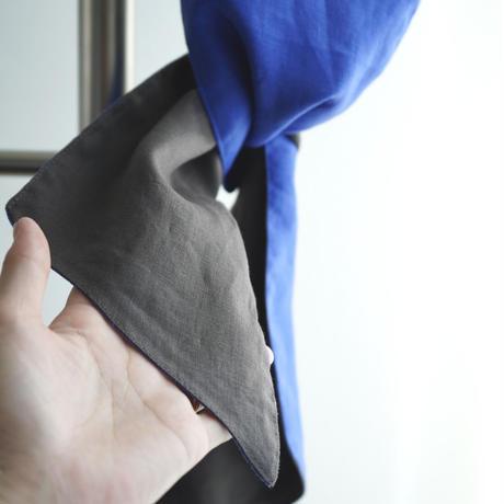 Cosaji Wide Turban   BLUE / BROWN