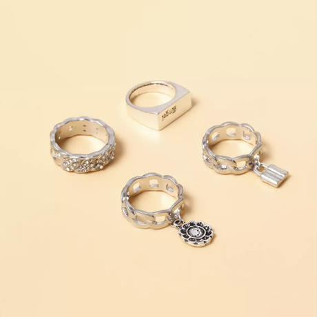 2colour 4piece ring set