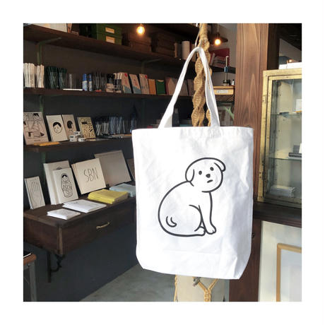 NOT SCARY DOG  (TOTE BAG)