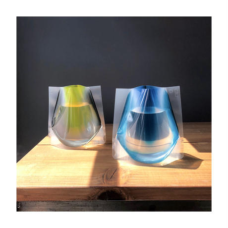 FlowerVase Mini (Yellow & Blue)
