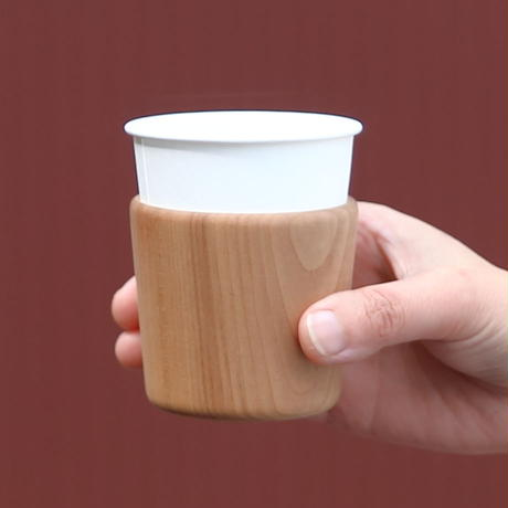木の紙コップホルダー スタッキングタイプ
