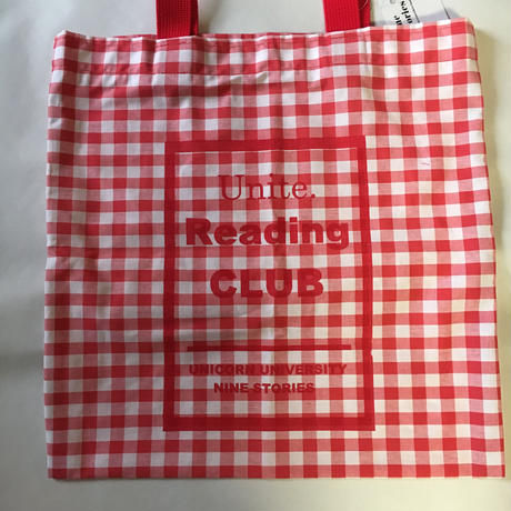 Reading club  bag gingham red