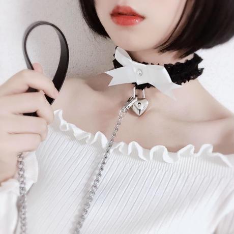 甘えんぼチョーカー /  black&white【リード付き】