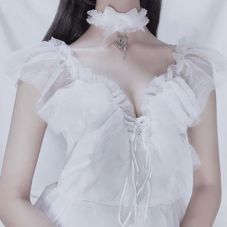 甘えんぼチョーカー / white&white【リードなし】