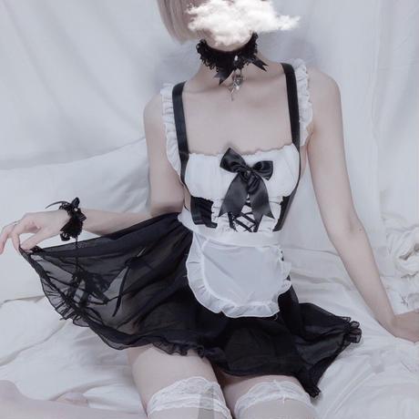 メイド服 (リボン) / black