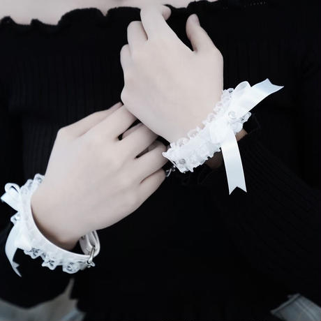 甘えんぼハンドカフス /  white 【手錠】