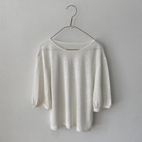 miho umezawa LINEN JERSEY パフスリーブTシャツ