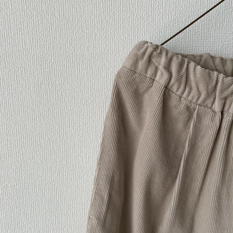 yuni コーデュロイ 製品染ゴムワイドパンツ