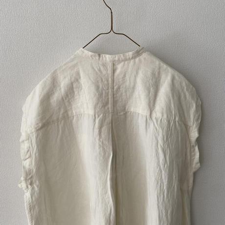 UNIVERSAL TISSU トリプルワッシャーリネン スリーブレスシャツ