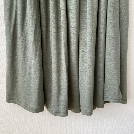 miho umezawa LINEN JERSEY ギャザースカート