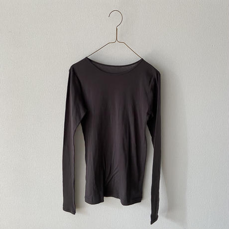 miho umezawa  SUPIMA COTTON スモールネックインナーTシャツ