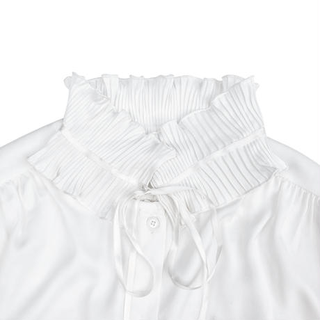 TWO FACE RUFFLE BLOUSE (white)