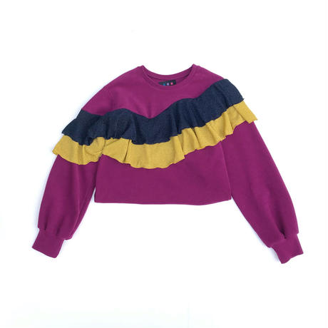 WAVE FRILL SWEAT (purple)