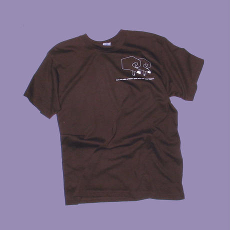 FINGERRR TEE (chocolate)