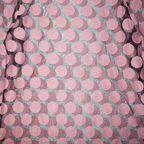 Dot see-through tops / pink