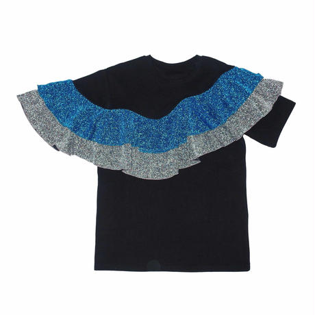 WAVE FRILL TEE/black
