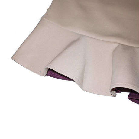 2way peplum camisole / purple&beige