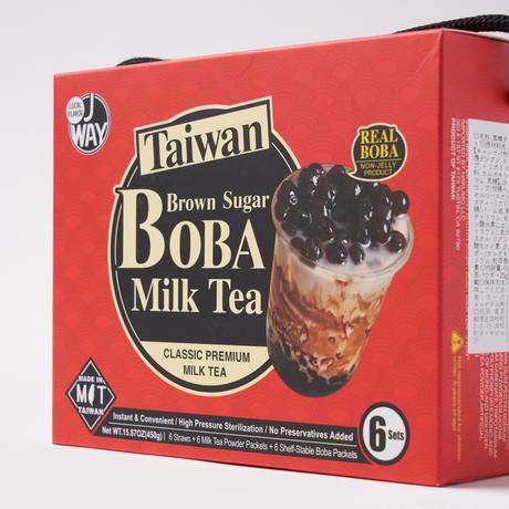 沃可生技 黑糖珍珠奶茶(黒糖タピオカミルクティーセット)