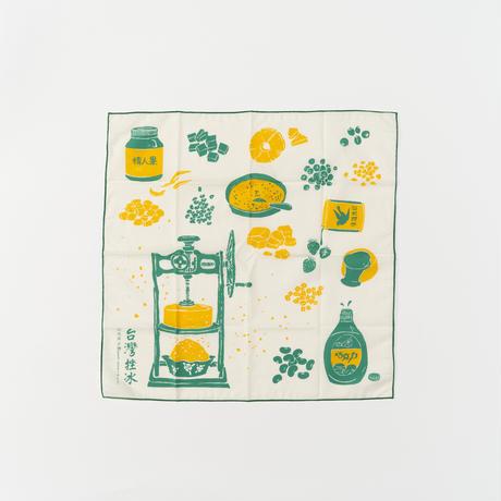 """inblooom"" ハンカチ Shave Ice/Retro Green"