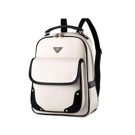 109d0f3e8b68 レディースバックパック 海外人気ブランドYOUNNE リュック PU 高品質バックパック ホワイト