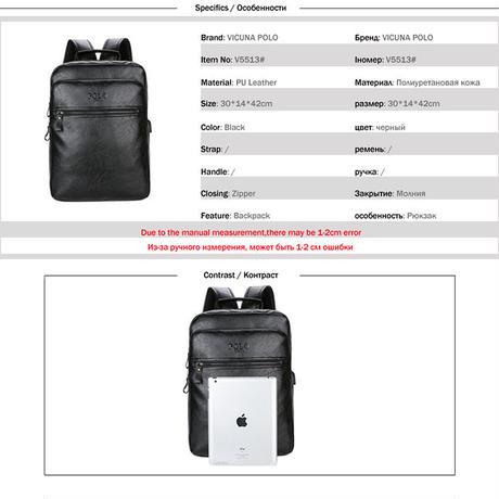 2919c389bdd3 デイパック リュック メンズ 海外ブランド 高級 V5513 レザー 革 ヴィンテージ バックパック 学生 ...