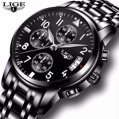 メンズ腕時計 防水 クォーツビジネス腕時計 高級男性カジュアルスポーツ時計 男性