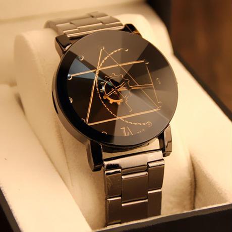 ステンレス鋼ファッション マンクォーツアナログ腕時計 メンズ腕時計