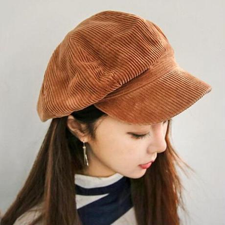 コーデュロイキャップ かわいい帽子 キュート キャスケット レディース帽子