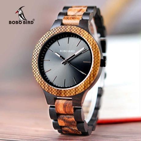 ボボ鳥 メンズ腕時計 木製クォーツ ギフト 木箱
