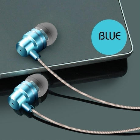 イヤホン 選べる6色 latest In-Ear MP3 computer bass mobile phone universal metal wire magic earplugs