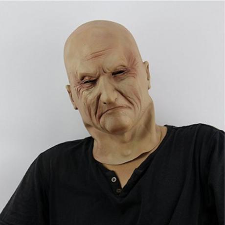 ラテックス老人マスク 男性 変装ハロウィン ヘッドゴム パーティーマスク 仮面舞踏会 コスプレ