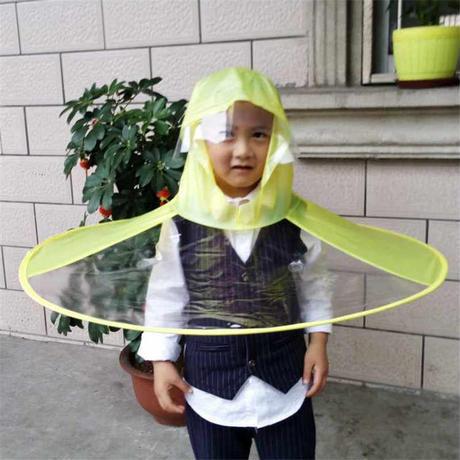 コート傘 帽子 折りたたみ 屋外 釣り ゴルフ 子供 レインコートカバー 透明傘