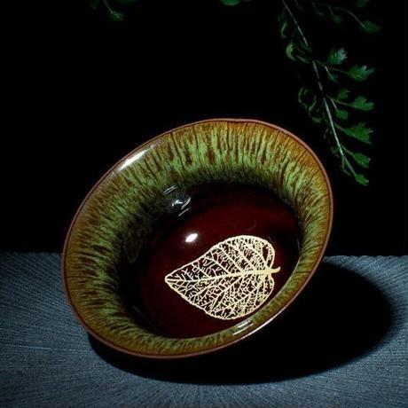 ボウル 窯カンフー茶カップ 大赤釉 セラミック 茶カップ 茶碗